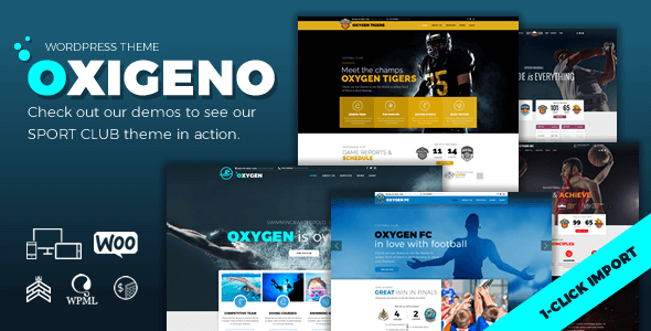 oxigeno wordpress theme for sports preview image