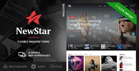 preview image newstar wordpress theme