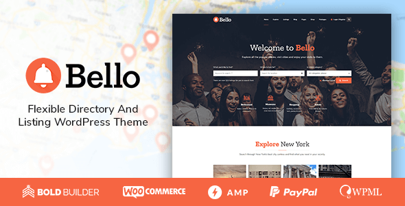 preview wordpress theme for directory and listings bello