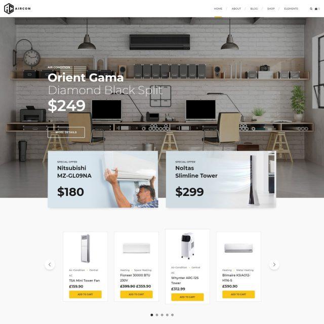 wordpress theme for home improvement services AC shop