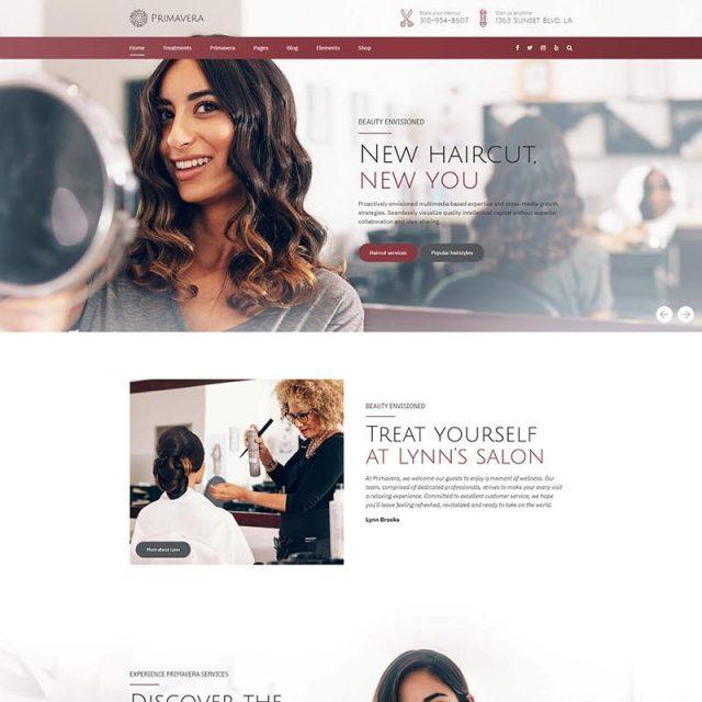 primavera wordpress theme for spa beauty salon home 2