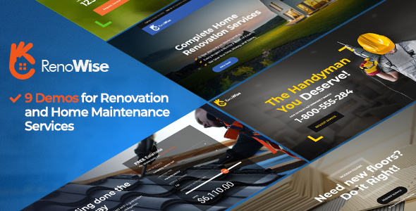 renowise wordpress theme for construction and building preview