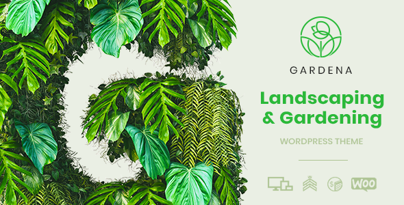 gardena wordpress theme landscaping gardening preview