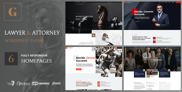 goldenblatt wordpress theme lawyer attorney preview