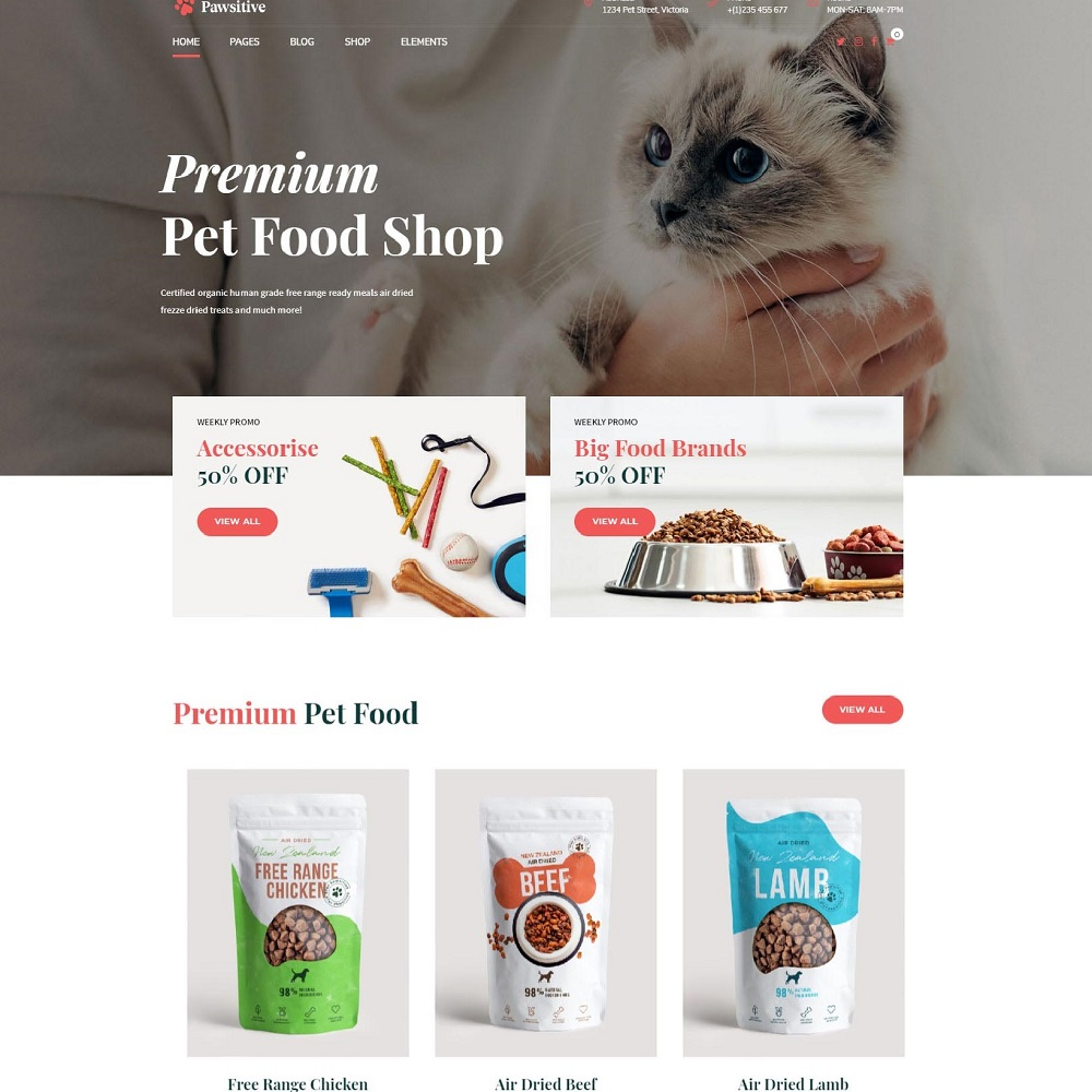pawsitive wordpress theme for pet business home 3