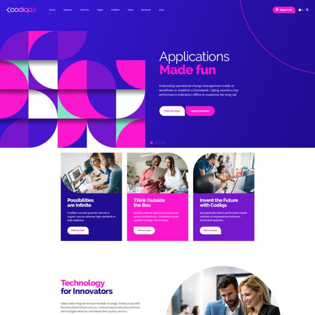codiqa wordpress theme software app home 1