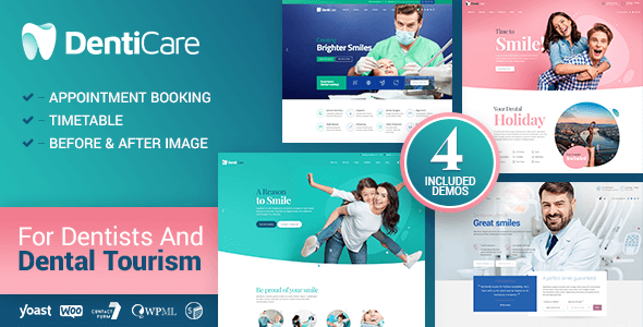 denticare wordpress theme dentist doctor