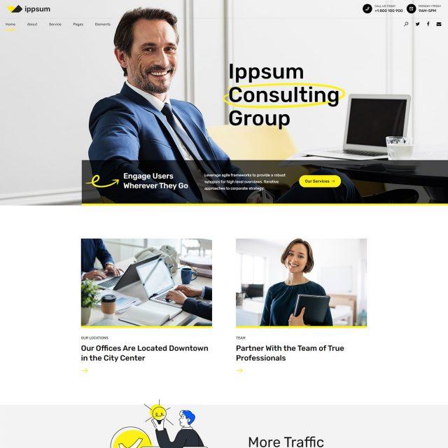 ippsum wordpress theme consulting business